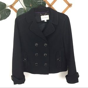 Banana Republic Black Peacoat Large Petite